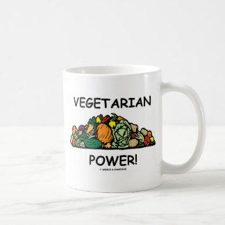 ¡Poder vegetariano! (Humor vegetariano) Taza
