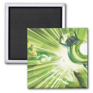Poder verde de la linterna imán cuadrado