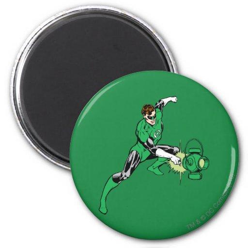 Poder verde de la linterna imán redondo 5 cm