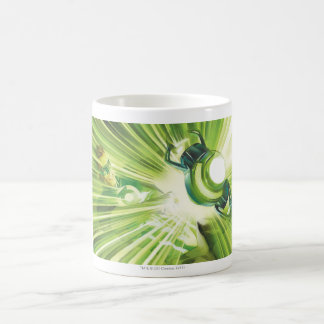 Poder verde de la linterna taza