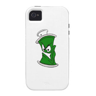 Poder verde de la pintura de aerosol del dibujo Case-Mate iPhone 4 funda