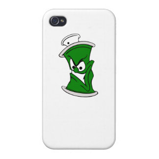 Poder verde de la pintura de aerosol del dibujo iPhone 4/4S carcasa
