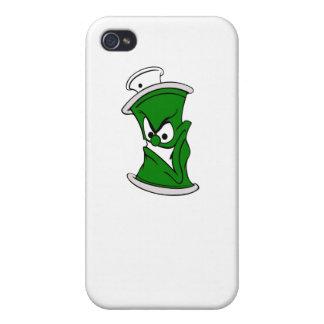 Poder verde de la pintura de aerosol del dibujo iPhone 4 funda