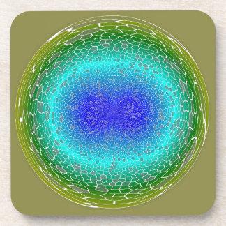 Poder verde en un extracto del globo posavasos