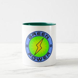 Poder verde II Taza De Café De Dos Colores