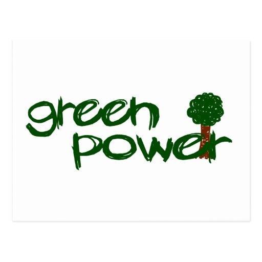 Poder verde tarjetas postales