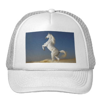 Poder y belleza - casquillo del caballo blanco gorra