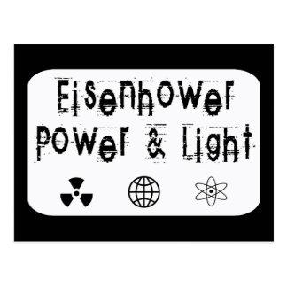 Poder y luz de Eisenhower, blancos Tarjetas Postales