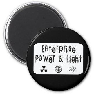Poder y luz de la empresa, blancos imán redondo 5 cm