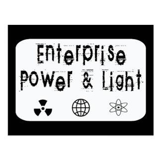 Poder y luz de la empresa, blancos postal