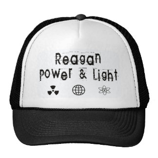 Poder y luz de Reagan, blancos Gorras