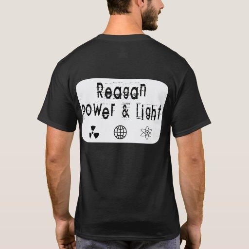 Poder y luz de Reagan, blancos Playera