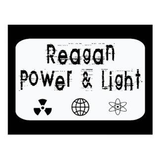 Poder y luz de Reagan, blancos Tarjetas Postales