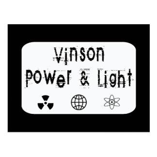 Poder y luz de Vinson, blancos Postal