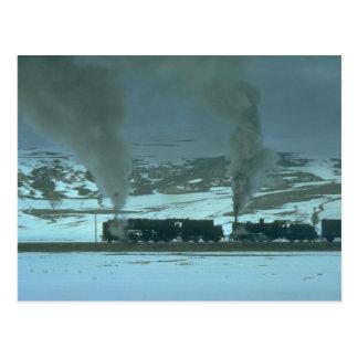 Poderes de vapor turcos una carga de Sivas a Samsu Tarjetas Postales