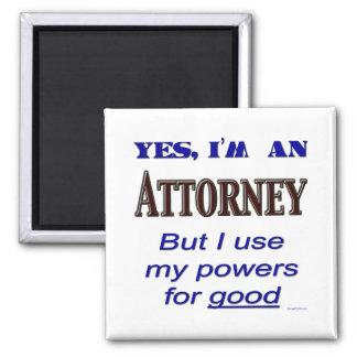 Poderes del abogado para buen decir imán cuadrado