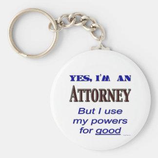 Poderes del abogado para buen decir llaveros
