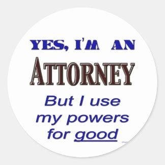 Poderes del abogado para buen decir etiquetas redondas