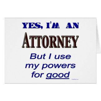 Poderes del abogado para buen decir tarjetas