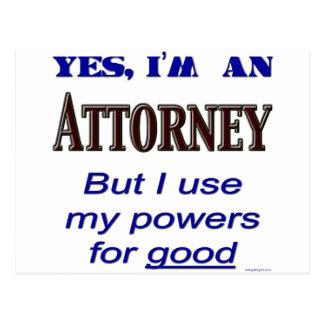Poderes del abogado para buen decir tarjetas postales