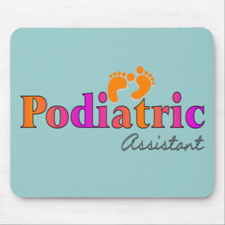 Podiatric Assistant With 2 Feet Design Mouse Pad