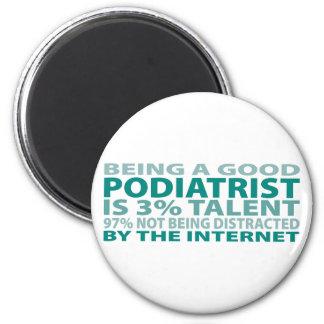 Podiatrist 3% Talent 2 Inch Round Magnet