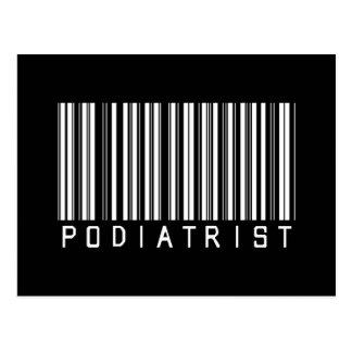 Podiatrist Bar Code Postcard