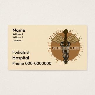 Podiatrist Caduceus Business Card