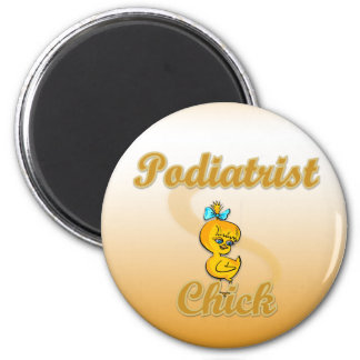 Podiatrist Chick 2 Inch Round Magnet