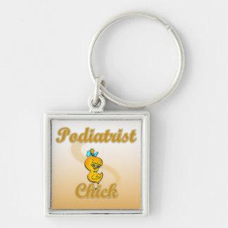 Podiatrist Chick Keychain
