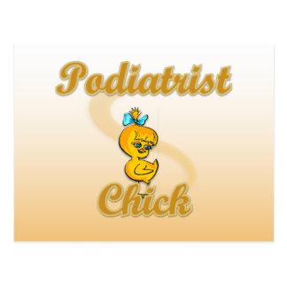 Podiatrist Chick Postcard