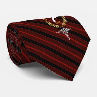 Podiatrist Custom Monogram Red Neck Tie