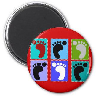 Podiatrist Gifts Popart Design of Feet 2 Inch Round Magnet