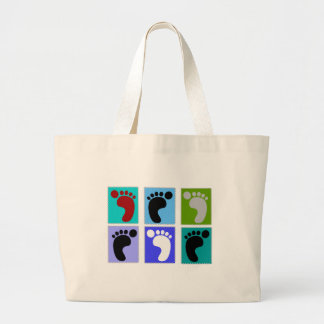 Podiatrist Gifts Popart Design of Feet Canvas Bags