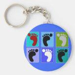 Podiatrist Gifts Popart Design of Feet Basic Round Button Keychain