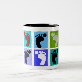 Podiatrist Gifts Popart Design of Feet Coffee Mugs