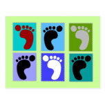Podiatrist Gifts Popart Design of Feet Post Cards