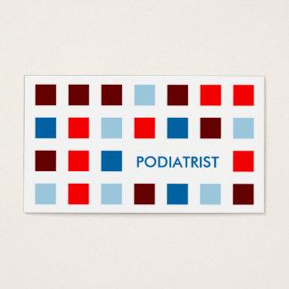 PODIATRIST (mod squares) Business Card