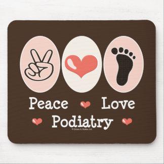 Podiatrist Mousepad del Podiatry del amor de la pa