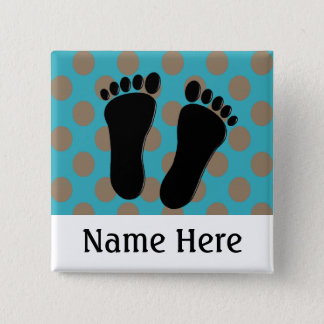 Podiatrist Name Buttons Customizable Blue