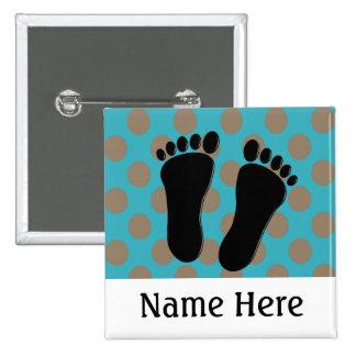 Podiatrist Name Buttons Customizable Blue