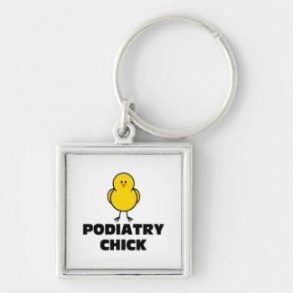 Podiatry Chick Keychain