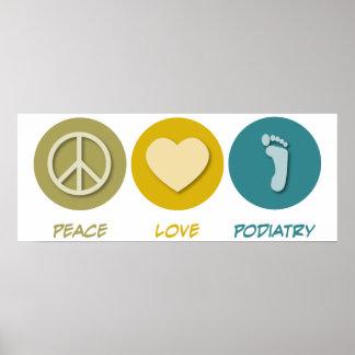 Podiatry del amor de la paz poster