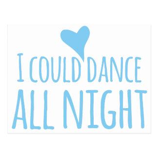 Podría bailar toda la noche tarjetas postales