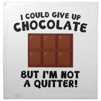 Podría dar para arriba el chocolate servilleta imprimida