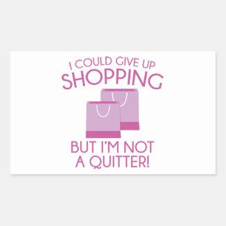 Podría dar para arriba hacer compras pegatina rectangular