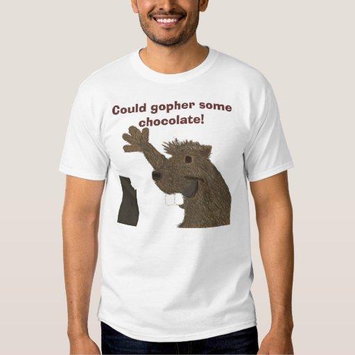 ¡Podría el Gopher un poco de chocolate! Camiseta Remera