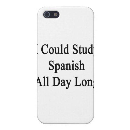 Podría estudiar español todo el día iPhone 5 coberturas