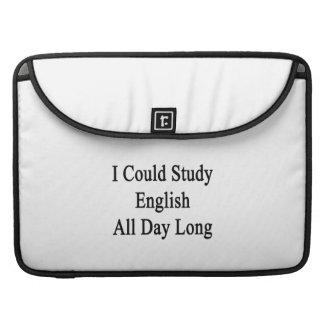 Podría estudiar inglés todo el día funda macbook pro