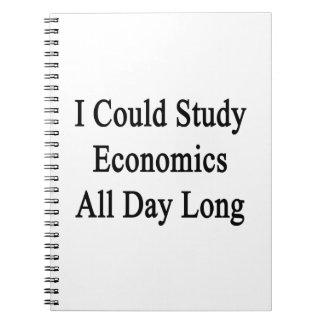 Podría estudiar la economía todo el día cuadernos